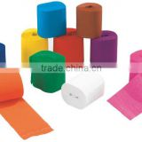 Hot crepe paper rolls for handmade &party, free sample available