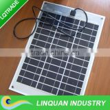 100W/18V high efficency semi-flexible Solar Panel