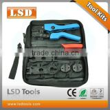 AN-K2546B Optical fiber tool set PV Tool set, solar tool set crimping tool.stripper,dies,combination too kit