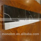 China volaks white and nero margiua black laminated floor marble border tiles flower designs