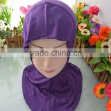 Purple Color Amira Muslim Hats Inner Hijab Caps Islamic Underscarf Hats for Alibaba Wholesale