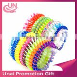 Plastic Stretchy Elastic Coiled Phone Wire Hair Bands Ponytail Holder Telephone Cord Head Rope HairBand Hair Accessories