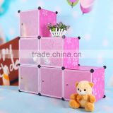 Wholesale plastic tree shaped bookshelf kids pink shelf