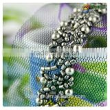 Fashion 2015 new products mesh metal skull beads trim for garment