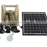 8w solar power system with 2 LED lamps,phone charger 2014 new design hot sales portable for africa markets