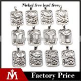 Any of the twelve animals pendant necklace simple dog tag stainless steel necklace jewelry