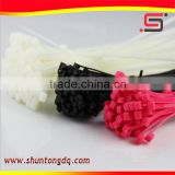 colours and black plastic pvc nylon 66 cable ties customized
