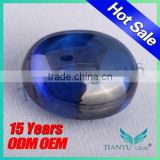 2015 wuzhou gemstone free samples Oval Cabochon shape synthetic yellow sapphire price