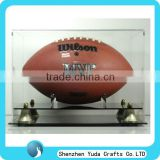customized acrylic display case for Memorabilia,sports memorabilia display case,clear Display Case for rugby ball