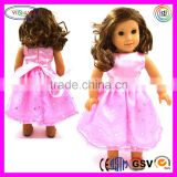 B093 Lovely American Girl Doll Pink Clothes Dress Satin 11 Inch Doll Clothes
