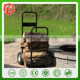 250LBS Cheap Heavy Duty Log Cart Cart Log Carrier Fireplace Wood Mover Hauler Rack Caddy Rolling Dolly Steel Log Carrier
