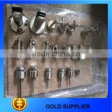 Stainless steel 304/316 swimming pool glass fittings,building glass fittings,glass balustrade fittings