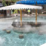 Hot spring cold fog water fountain