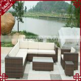 S&D Cheap poly rattan furniture with cushion, garden art furniture