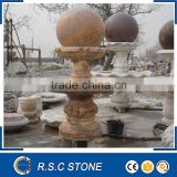 Outdoor granite rolling ball water fountain
