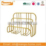 3 Stacking sorter sections wire mesh gold desktop paper letter holder