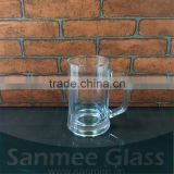 Hot Selling German Glass Beer Mug with Handle