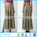 Ethnic vintage printed maxi skirt African women clothing latest new design high waist skirt