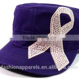 100%Cotton Twill Promotional Caps Rhinestone Bow Hats