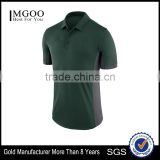 MGOO Factory Wholesale Sport Wear Gym Wear Polo T-Shirt Mens Dry Fit Polo Shirt Splicing With Two Colors