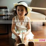 COOL KID ZONE white chiffon children suit brand girl child garment
