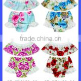 66TQZ46 Yiwu Lovababy Cotton&Lace wholesale sleeve less floral fabric bloomer Maxi BIKINI SET