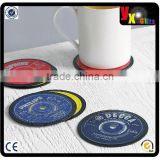 Set Of Six Record Coasters by Vinyl Village/soft pvc coaster