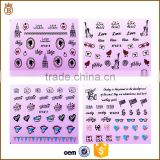 Nail Beauty Water Transfer Nail Stickers for Girls