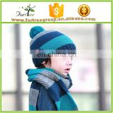 kids funny cable knitted hat scarf sets