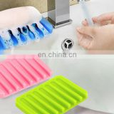 Funny cute design soap silicone dishtravelling soap boxes