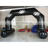 2014 new style black color inflatable air arch with feet, can be used in the water