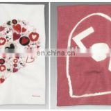 100% Cotton Sweet Love ladies' printed Handkerchiefs