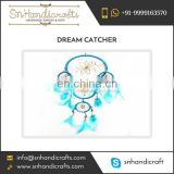 Sky Blue Coloured Beautiful Feather Dream Catcher from Top Rated Manufacturer