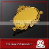 High Quality Royal Style And Number Insert Use Custom Made Cheangeable Gold Plastic Decoration Door Plate