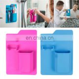 Wall Mounted Silicone Mighty Toothbrush Holder Razor Holder Silicone Storage Organizer