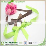 PC double face satin gift bow with adhesive