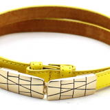 Yellow Fashion Women's PU Belts