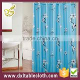 Polyester hookless printed showr curtain of pink square brick
