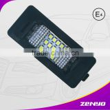zenyo factory price 12 months warranty energy-saving led license plate light for BMW E72 4D sedan
