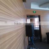 Soundproof grooved wooden acoustic panel