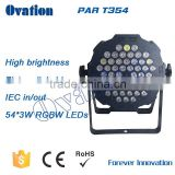 Party Led par light 54*3W Leds (R:12 G:18 B: 18 W:6) 50000 hours lifespan with control panel digital display