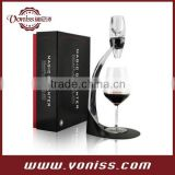 Simple Classical Wine Aerator Set,unique wine decanter set With Folding Box Packing, 8 piece parts
