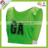 fashion cheap custom netball bibs wholesale