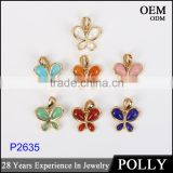 Wholesale fashion silver 925 lady butterfly pendant setting artificial stone jewelry
