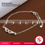 2014 wholesale 925 sterling silver anklets A004