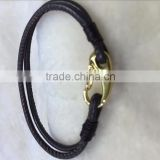 PT2180 Fashion Jewelry Lady Genuine Leather Jewellery Wholesale Braided Real Leather Bracelet