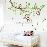 Animals Tree Monkey Wall Stickers Kids Baby Nursery Room Decor