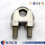high quality stainless steel wire rope clamps