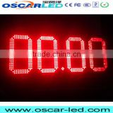 outdoor led board screen sign led electronic shenzhen manufacturer led gas/petrol station price sign p10mm 7 segment 8 inch led