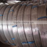 Hot sale Hot-dipped galvanized steel wire , flat wire ,2.4/3.0 galvanized flat steel wire
